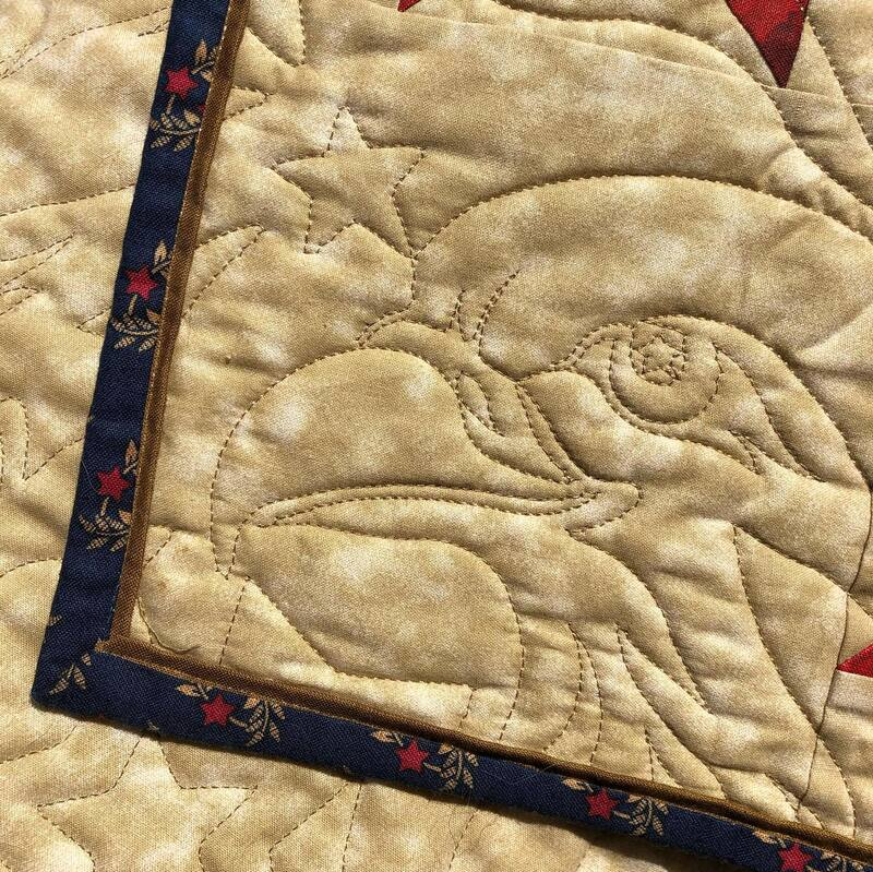 Where Eagles Dare; Quilt of Valor, pieced and machine quilted by Amy Martin of Peaceful Quilts in Lafayette Indiana
